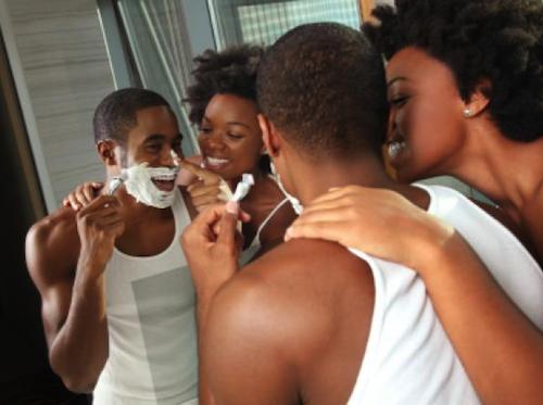 Le rasage des peaux noires par Mennen