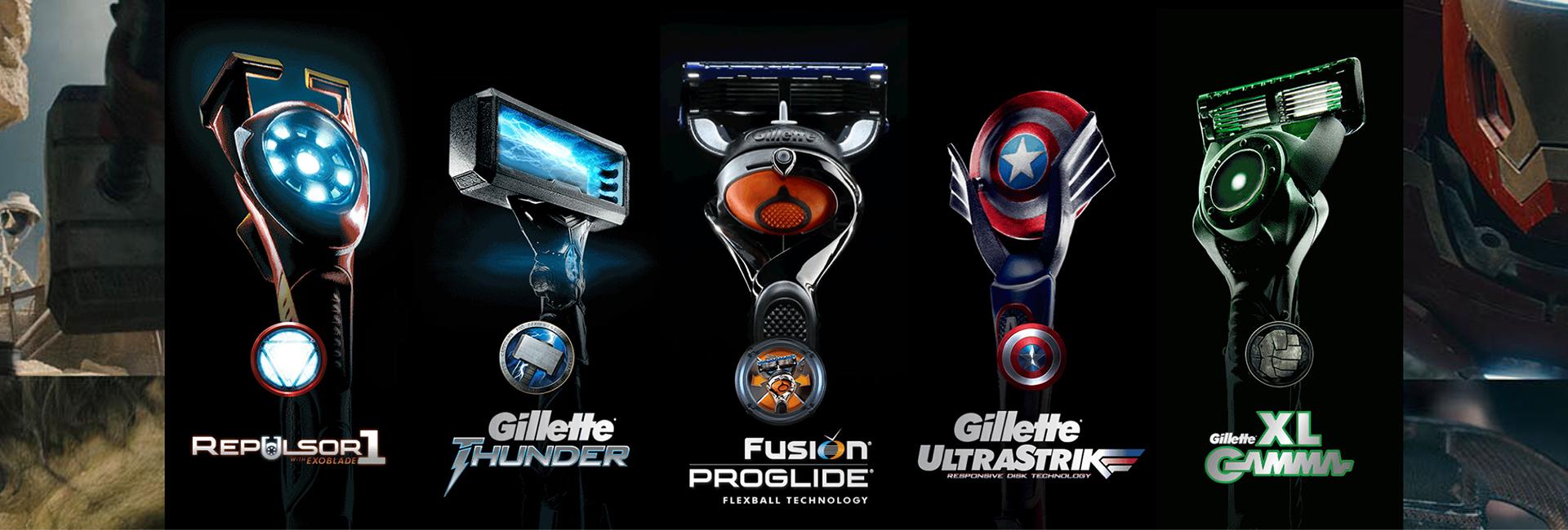 Gillette dote ses rasoirs de super-pouvoirs