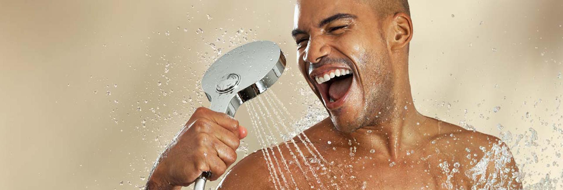 Mets de l'huile sous la douche
