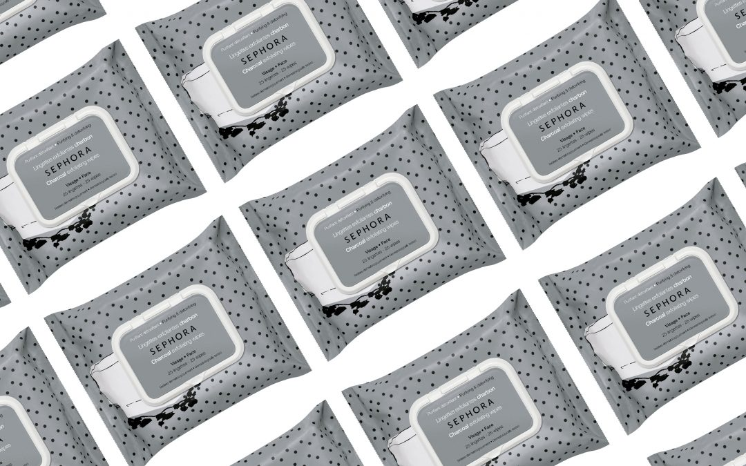 Lingettes exfoliantes au charbon, Sephora