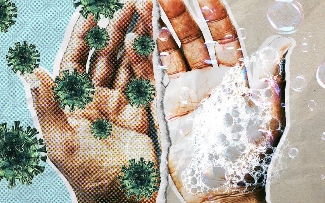 Soin des mains et gestes barrière